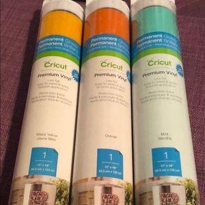 Lot of 3 Rolls of Cricut Permanent Adhesive Vinyl